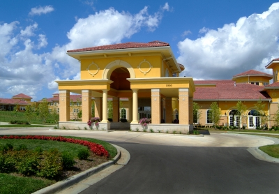 Front Of Yellow Building